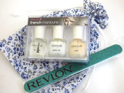 French Manicure Floral Party Bag