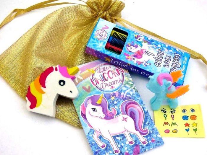 Shiny Gold Unicorn Party Bag