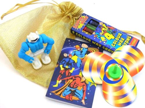Shiny Gold Super Hero Party Bag