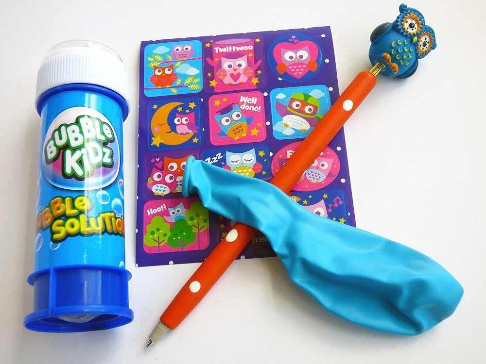 Bubbles & Bouncy Owl Party Bag