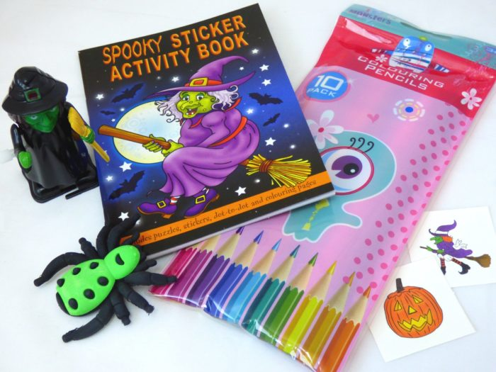 Witch & Halloween Sticker Activity Party Bag