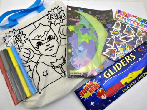 Super Hero Glow in the Dark Canvas Party Bag