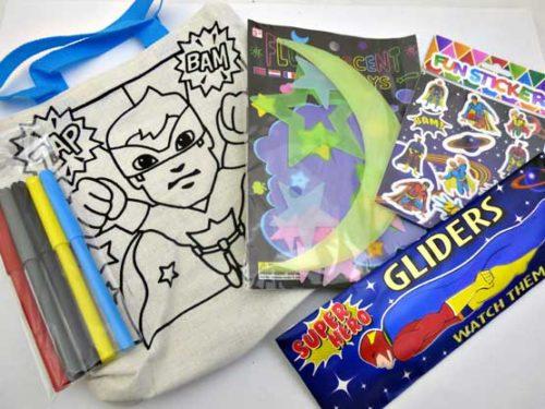 Super Hero Glow in the Dark Canvas Party Bag