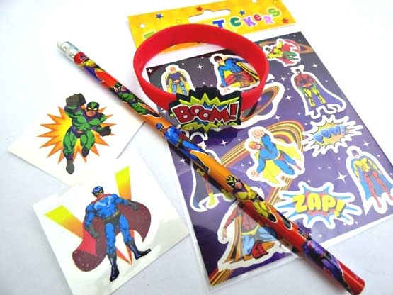 Super Hero Wristband Party Bag