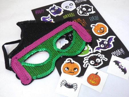 Sequin Halloween Mask Party Bag