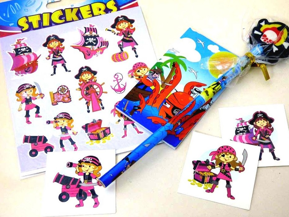 Pink Pirate Party Bag