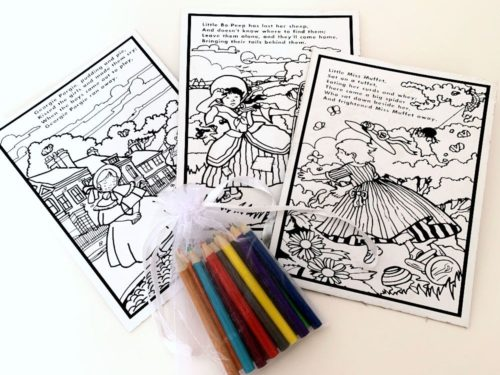 Nursery Rhyme Colouring Party Bag