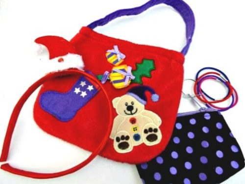 Christmas Girls Accessories Teddy Bag