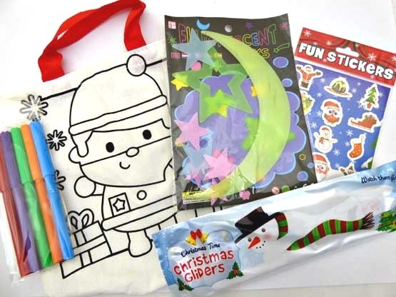 Christmas Glow in the Dark Canvas Party Bag