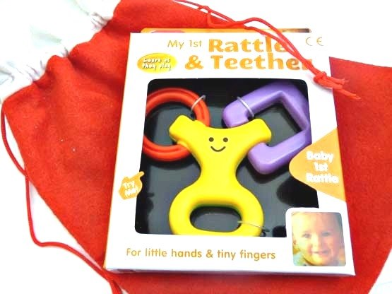 Smiley Face Rattle & Teether Christmas Sack