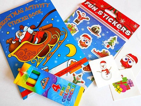 Christmas Sticker Party Bag