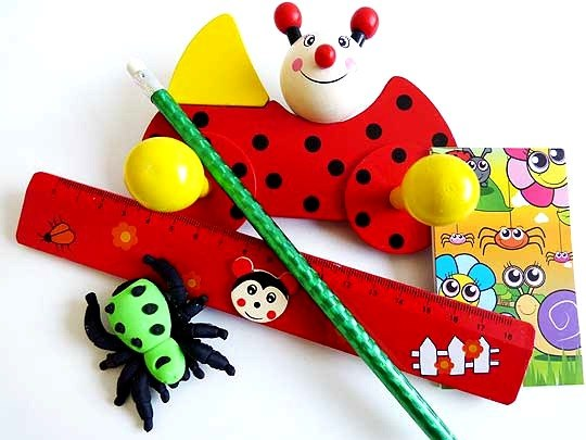 Wooden Ladybird Stationery Party Bag