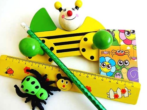 Wooden Bumble Bee Stationery Party Bag