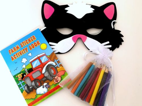 Farm Cat Mask Party Bag
