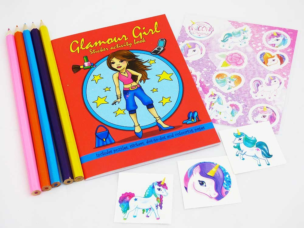 Glamour Girl Sticker Party Bag