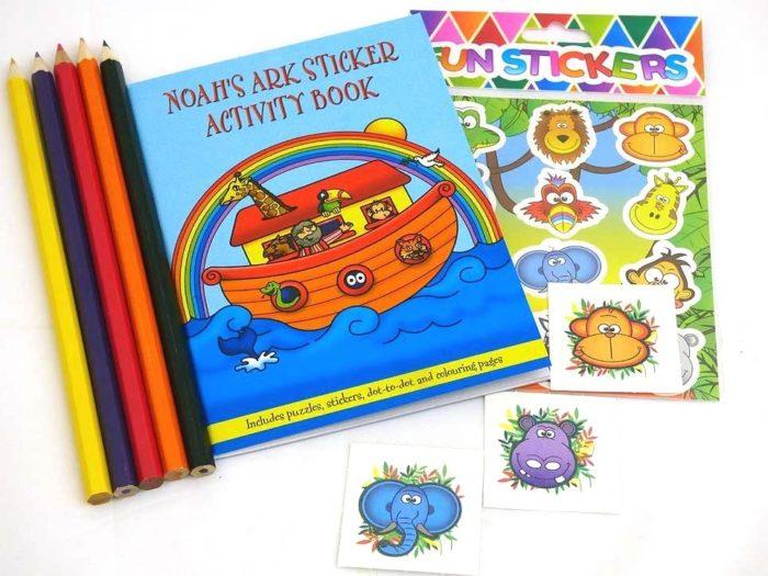 Noah's Ark Sticker Party Bag