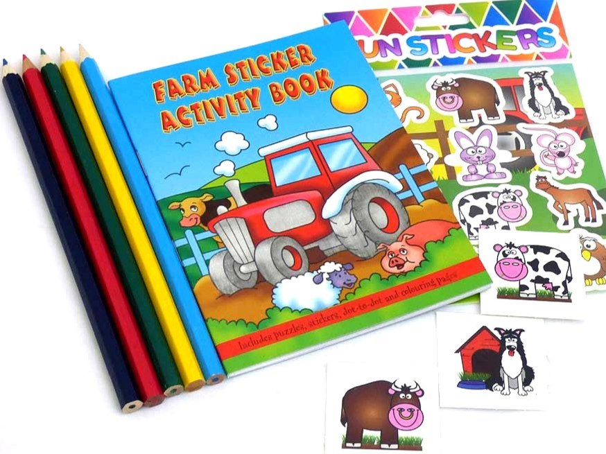 Farm Sticker Party Bag