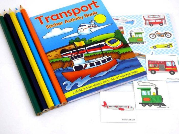 Transport Sticker Party Bag
