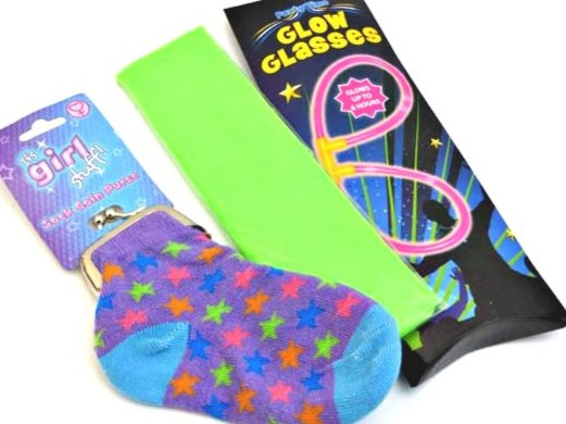 Sock Purse & Glow Glasses Party Bag