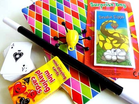 Harlequin Magic Tricks Party Bag