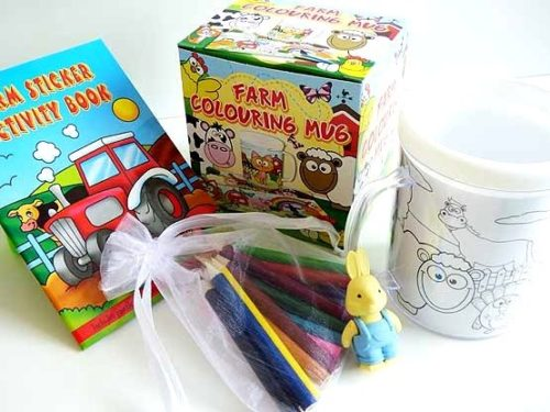 Fantastic Funky Farm Colouring Mug Party Bag