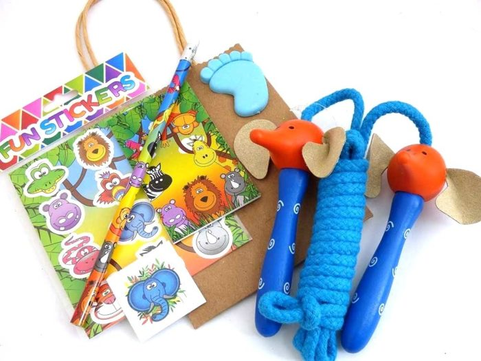 Wooden Edward Elephant Skipping Rope Party Bag