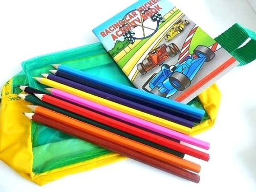 Racing Car Filled Pencil Case