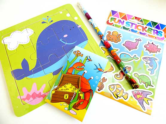 Wooden Sealife Jigsaw Party Bag