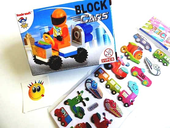 Block Cars Party Bag