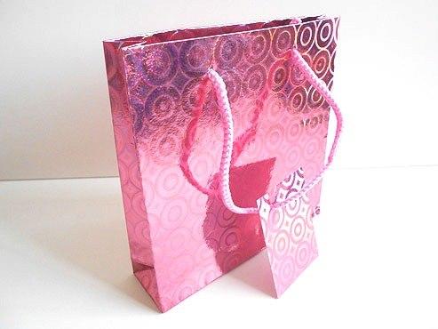 Pink Holographic Gift Bag