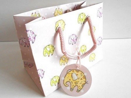 Small Little Elephant Gift Bag