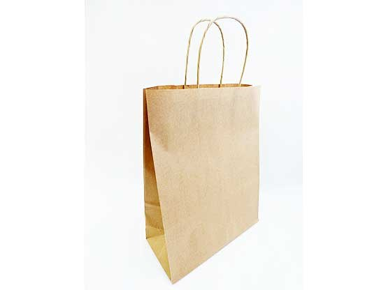 Large Brown Recyclable Twisted Handle Carrier Bag