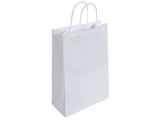 White Large Recyclable Twisted Handle Carrier Bag