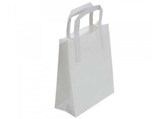 White Recyclable Carry Bag