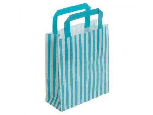 Turquoise Stripe Recyclable Carry Bag