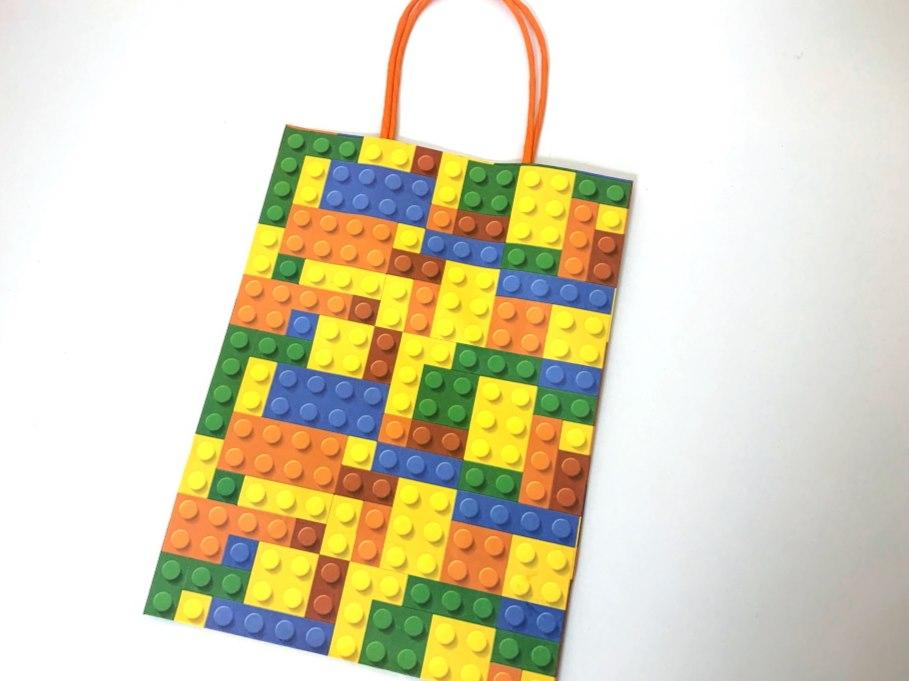 Bricks Paper Bag wt handles(16x22x9)