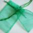 Large Emerald Green Organza Drawstring Bag