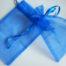 Large Royal Blue Organza Drawstring Bag