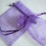 Large Purple Organza Drawstring Bag