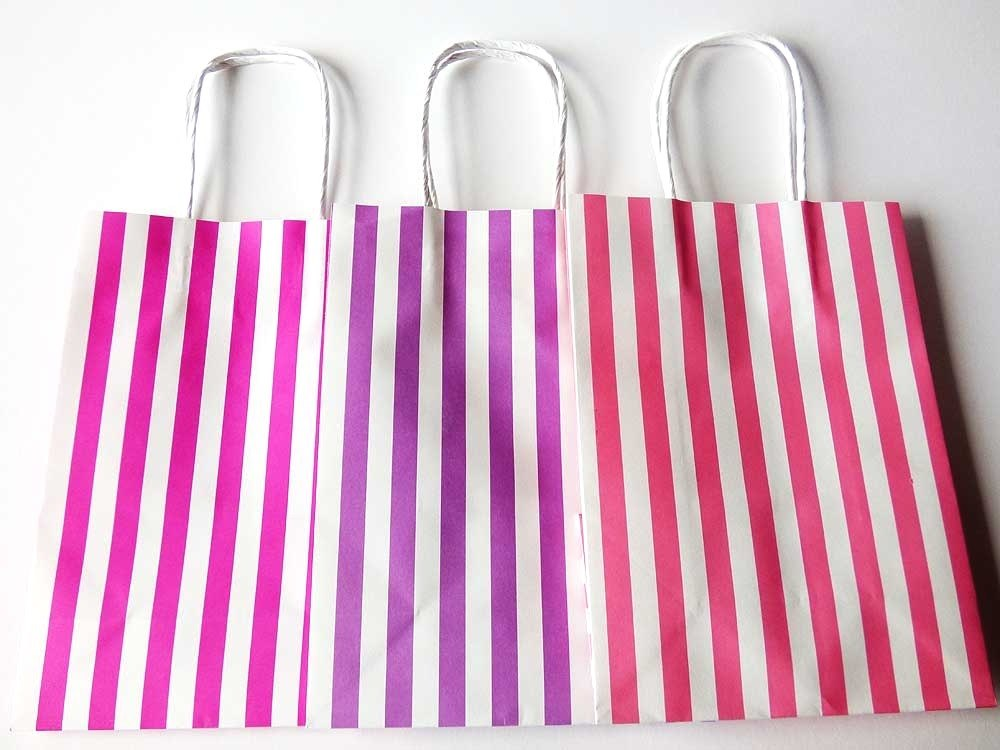Lined Rose Recyclable Carrier Bag