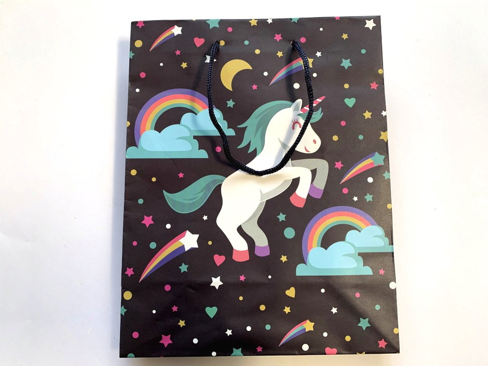 Unicorn Paper Party / Gift Bag wt handles(24x19x8)