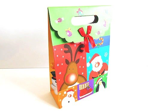 Christmas Gift Bag with Velcro Fastener