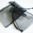 Medium Black Organza Drawstring Bag