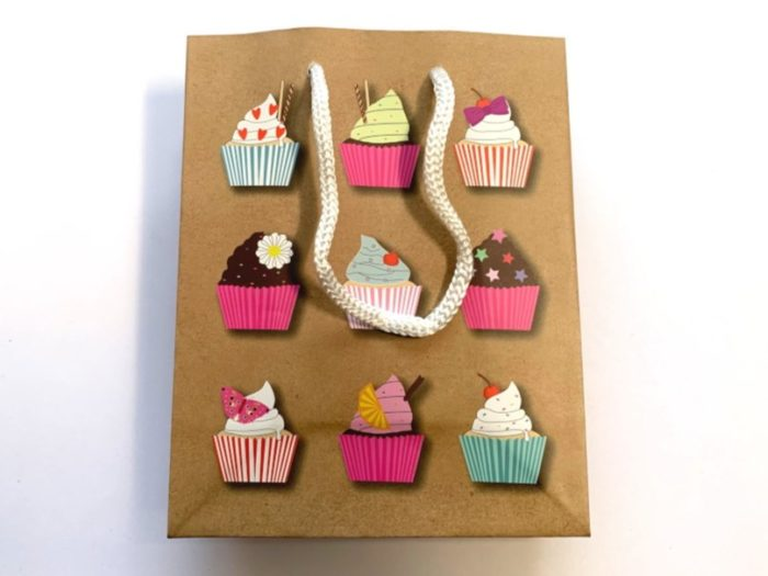 Cup Cake Paper Party / Gift Bag (15x12x6)