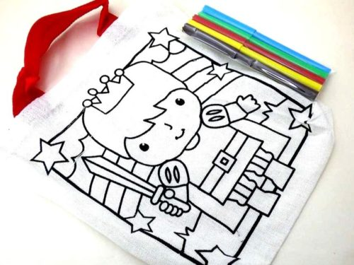 Knight Colour-In Canvas Bag