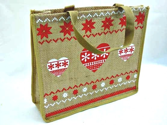 Large Hessian Christmas Bag