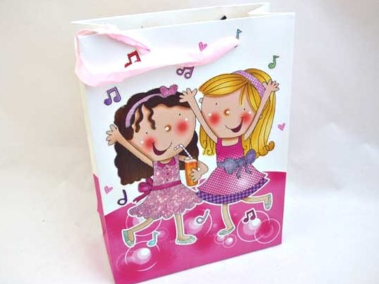 Large Sparkly Best Friends Gift Bag