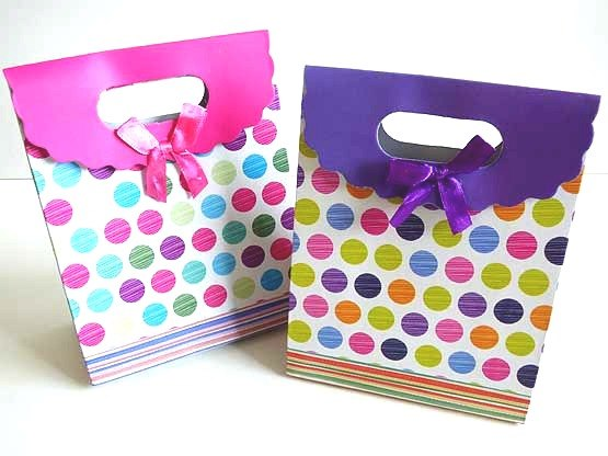 Spotty Gift Bag with Velcro Closure