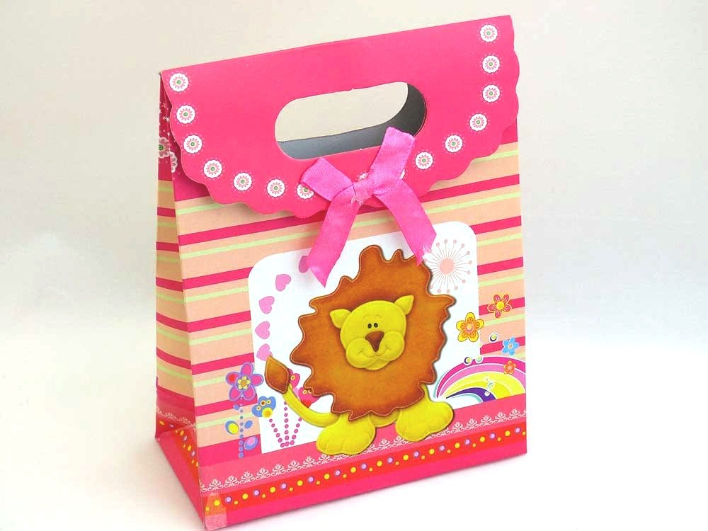 Lucy Lion Gift Bag with Velcro Closure
