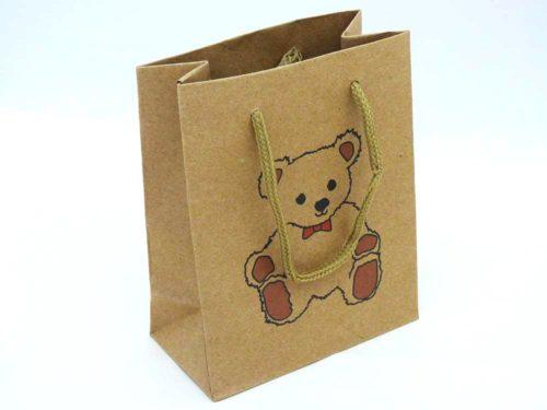 Small Teddy Bear Kraft Gift Bag